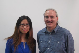 Xue Cai (left) and John Heidemann, after her PhD defense.