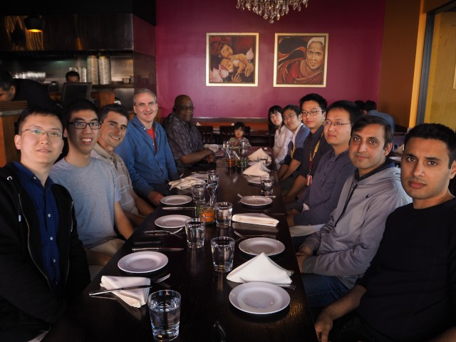 The going away lunch for Kensuke Fukuda (fifth from the right), celebrating his visiting as a scholar, with the ANT lab.